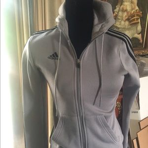 Adidas hooded zip up jacket size S